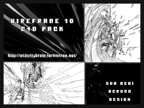 10 Wireframe C4d Pack by Son-Baby