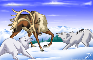 Caribou Hunt by SonicMaster23