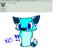I'm not a lamp..! (Q/A) by KatWolfKid