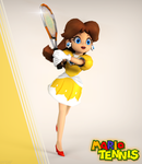 Classic Daisy Tennis outfit render by ArRoW-4-U