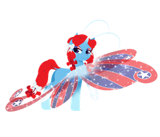 Art Trade: Patriotic Wings by FuyusFox