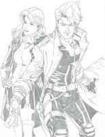 X-Treme Rogue and Gambit by realrogue