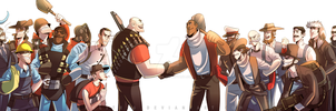 TF2: orignal meets 1800s Mercs by DarkLitria