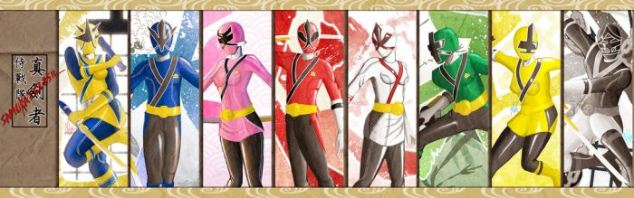 Samurai Rangers by the-newKid