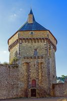 Tower of the castle Sille le Guillame Sarthe Franc by hubert61