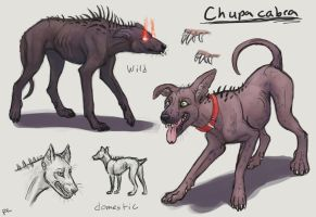 Wild and Domestic Chupacabra by TruBlueArt