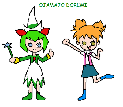 Cosmo the Seedrian and Flora Politis - Ojamajo Dor by florapolitis