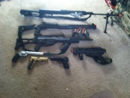 My Airsoft Guns by A-Mad-Russian-Pony