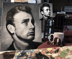James Dean Painting WIP by DJCoulz
