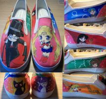 Custom Sailor Moon shoes by Muku-charms