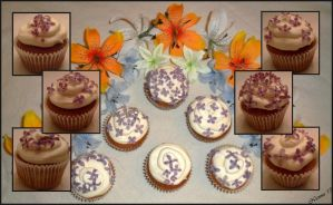 Lilac cupcakes collage by NiennaxAngelus