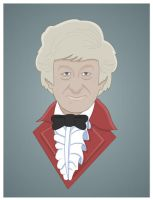 Jon Pertwee 1970 to 1974 by Nevski86