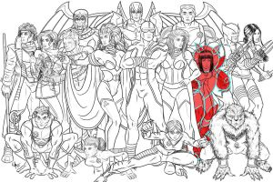 Giant-Sized X-Men by Kaufee