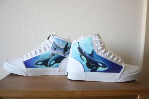 Custom painted Orca shoes by methodmonkey