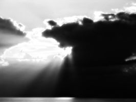 Rays Over Lake Michigan by josafisch