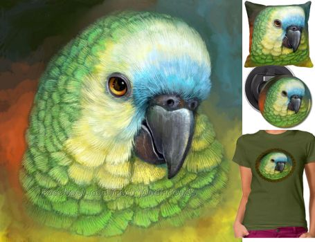 Blue fronted amazon parrot by emmil