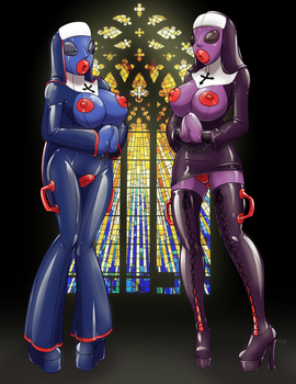 Dolls of the church by HelixJack