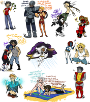 Mini Marvel Sketch Dump 5 by Squidbiscuit