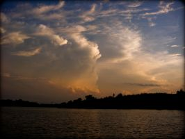 Lake Alvin Coming Storm Clouds by tjsviews