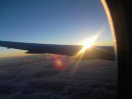 Sunrise from a plane by DarkSusy
