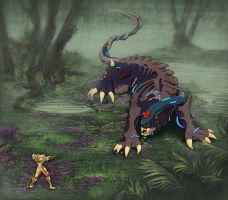 Samus versus the Beast-iol by Elearia