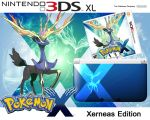 3DS XL Xerneas Edition Box art Mock-up by Gl3ny