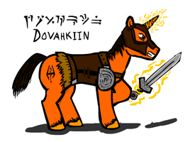 Dovahkiin Pony Colored by glue123