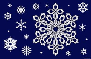 Stained Glass Snowflake Knot by bigblued