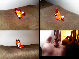 Chibi Red Fox Charm by Savvatogenimeni
