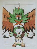 Rowlet Evolutions by TruiArts