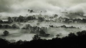 Castlemorton Common, winter mist by beltanespring
