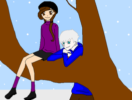 Jack Frost Hanging With paige by TheXBunny