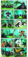 Gorillas hair combat by Gilmec