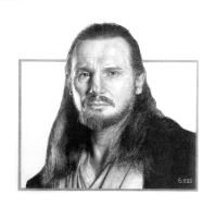 Qui-Gon by angrywhitewanker