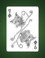 9 of clubs aka 9 of air by LineDetail