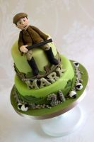 Farmer birthday cake by zoesfancycakes
