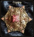 Victorian inspired Filigree Hairpiece by Cyanida