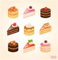 Sweets icon set by Melanges