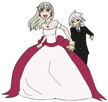 Soul and Maka Wedding by xXneskaXx