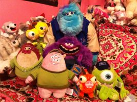Monsters University Disney Store Plush Collection by BeautifulHusky