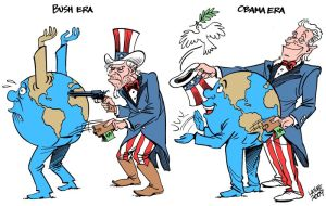 Bush, Obama differences by Latuff2