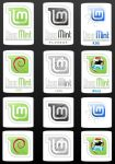 Linux Mint computer stickers by samriggs
