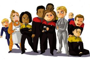 Voyager crew by imabubble