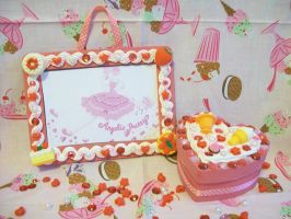 Strawberry Deco Frame and Box by lessthan3chrissy