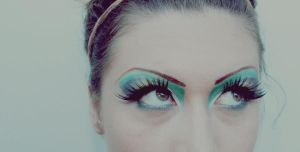 green, gold and silver make up by hmisha