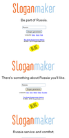 Fun with Sloganmaker: Russia by Melon-Vodka