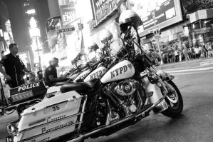 Harleys in Times Square by squarepush
