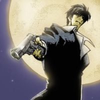 Trigun- Wolfwood Icon: Moonlit by Miburo