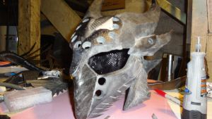 Daedric helm version 2 WIP by livebyhonor