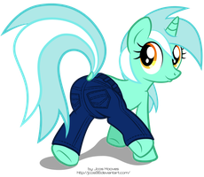 Lyra Jeans (Color) by JcosHooves